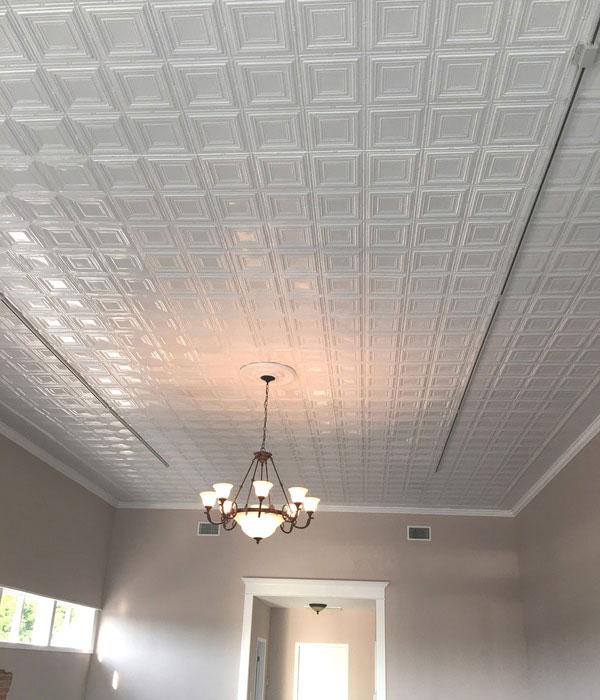 Times Squares – Aluminum Ceiling Tile – #0601 - White