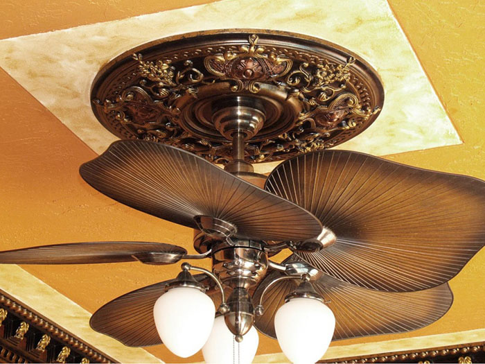 Dark Platinum – FAD Hand Painted Ceiling Medallion – #CCMF-035