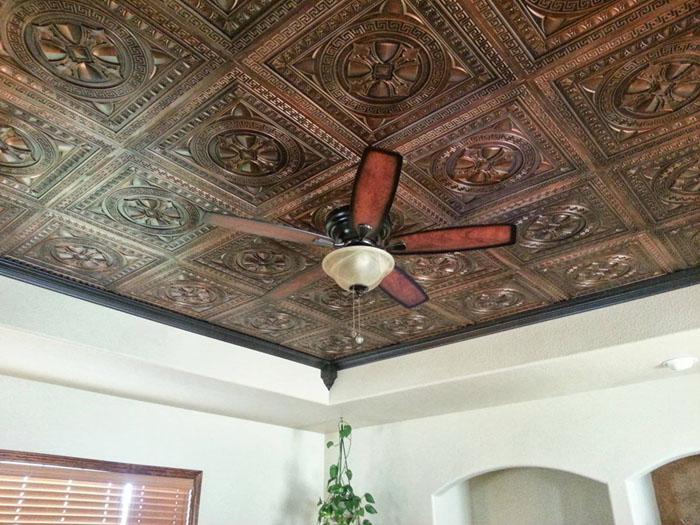 Antique Copper Ceiling at Living Room - Antique Copper