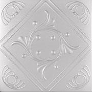 Diamond Wreath Styrofoam Ceiling Tile - 20x20 -R02 Antique Brass