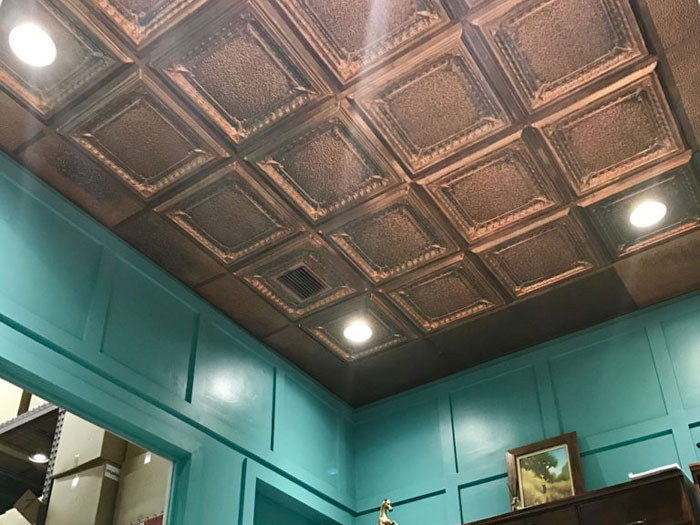Jackson Square - Copper Ceiling Tile - 24