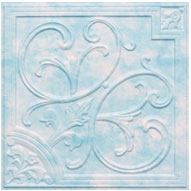 """Lilies and Swirls - Faux Tin Ceiling Tile - 24""""x24"""" - #204 - Heavenly Clouds"""