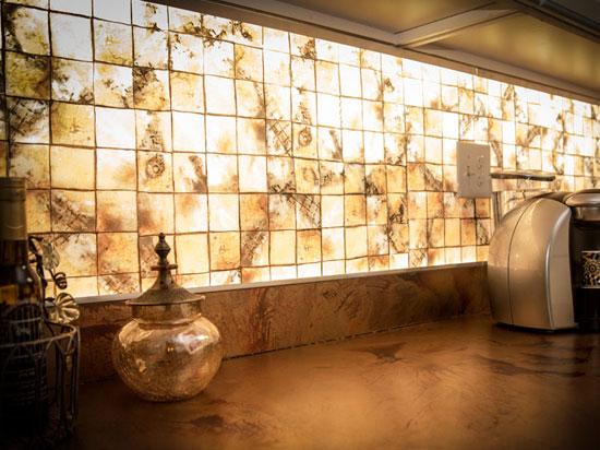 LumiSplash Graphic Panel - TR 4in Golden Tiles