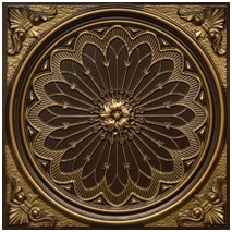 Rose Window – Faux Tin Ceiling Tile – #238