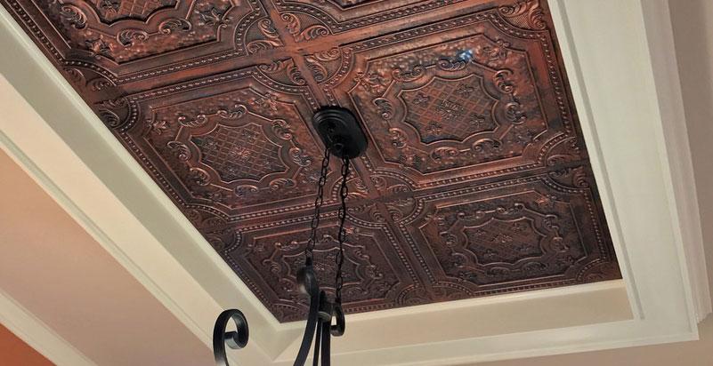 Elizabethan Shield - Faux Tin Ceiling Tile - 24
