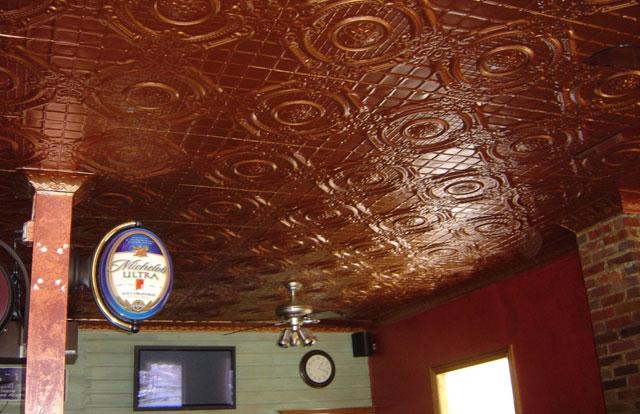 English Garden - Aluminium Ceiling Tile - #2409 - Antiqued Spice