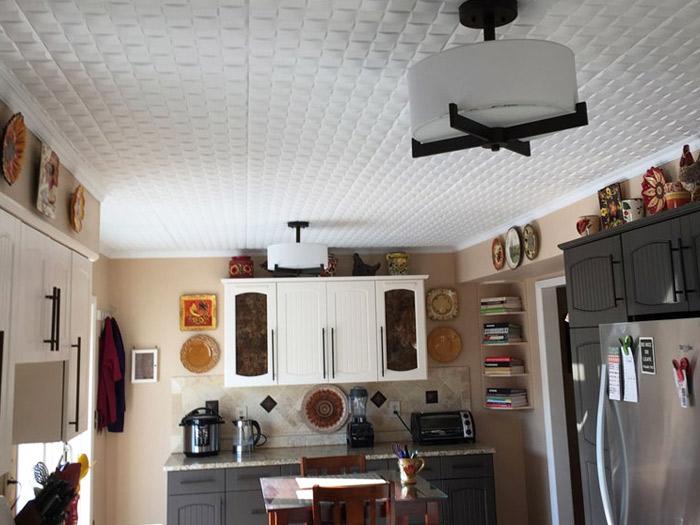 Cobblestone Styrofoam Ceiling Tile 20x20 - #R25 - Plain White