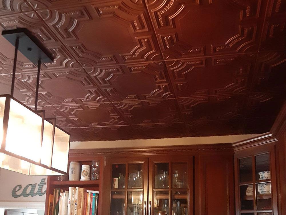 Evergreen Glue-up Styrofoam Ceiling Tile 20 in x 20 in - #R28c - Antique Copper