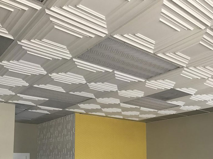 Schoolhouse – Faux Tin Ceiling Tile – #222 - White Matte