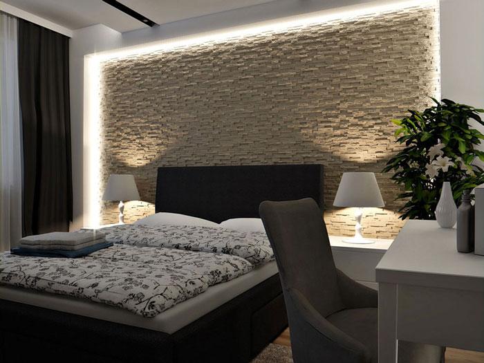 Stone 2ft. x 2ft. Seamless Glue-up Wall Panel - Plain White