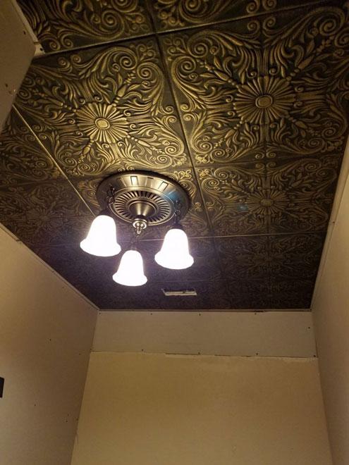Spanish Silver Styrofoam Ceiling Tile 20