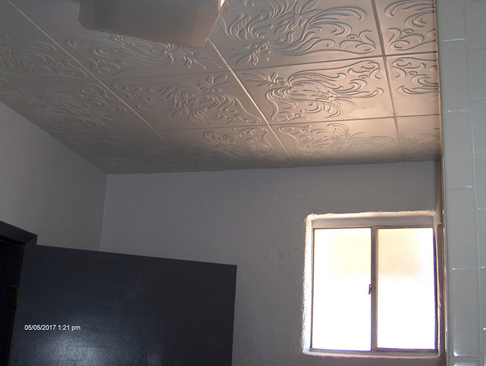 The Wedding Present – Styrofoam Ceiling Tile – 20″x20″ – #R98