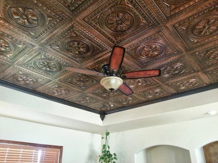 Argonaut – Faux Tin Ceiling Tile – 24 x 24 – #DCT01 – Antique Copper