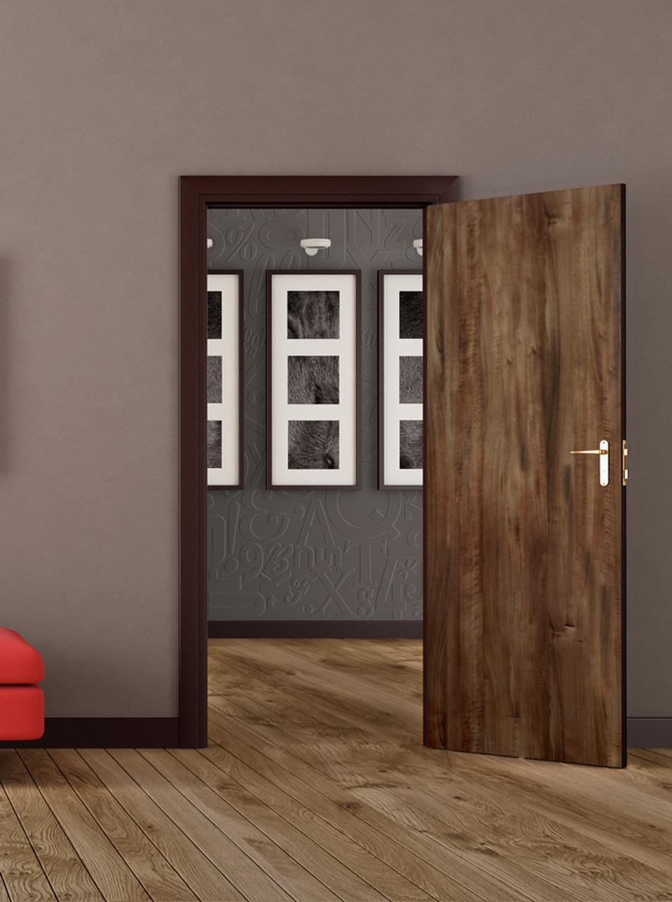 Medium Walnut – Door Skin – MirroFlex Installed