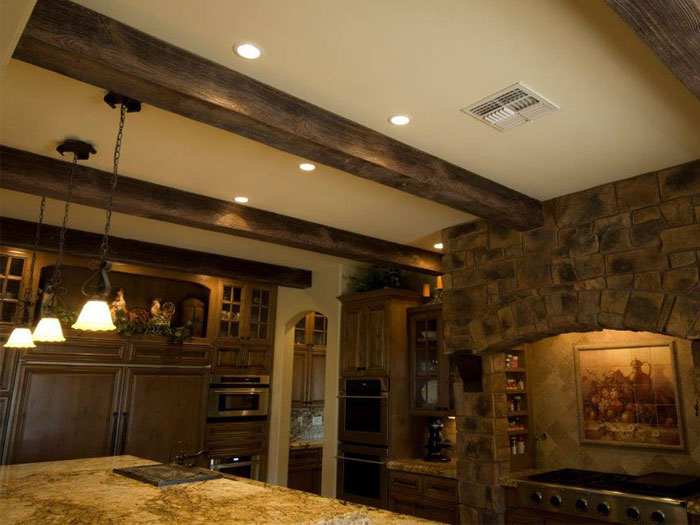 Faux Wood Beams – Light Walnut