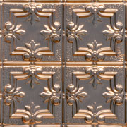 Mini Fleur de Lis w/ Dosh and Dot Copper Ceiling Tile 1202DD - Solid Copper