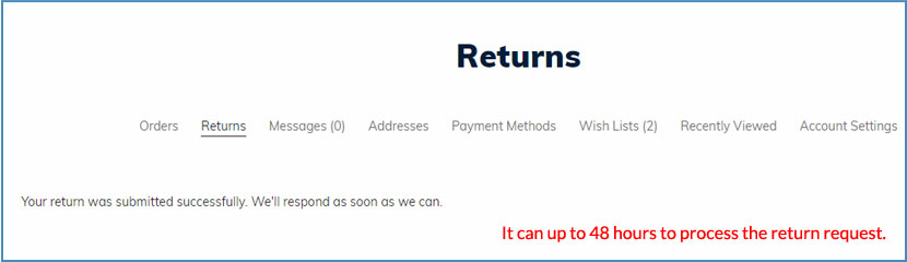 Easy Returns - Complete Return Request Form