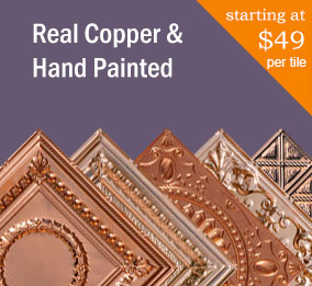 Real Copper and Hand Painted