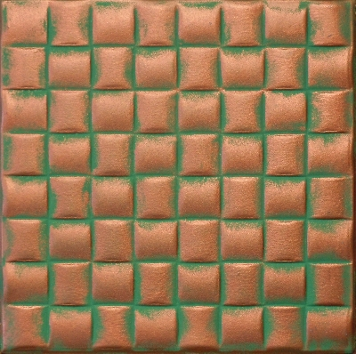 R 25 Styrofoam Ceiling Tile 20x20 - Copper Patina