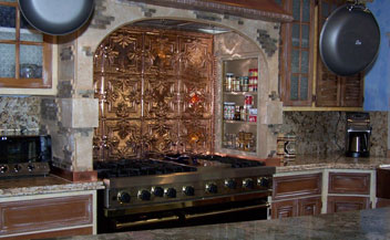 SOLID COPPER BACKSPLASH