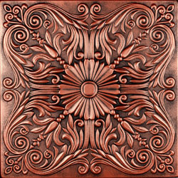 r139 hand painted tile that can be used as a decorative wall panel or for ceilings - Decorative Wall Panels