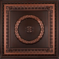 1 inche deep design 210 in Antique Copper is made from PVC