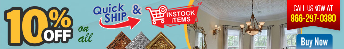 10% Off on All Quickship & Instock items - Call us Now at 866-297-0380