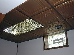 2401 Tin Ceiling Tile - Classic Edgerton Square Drop in