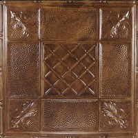 Tin Headboard Tile Finiish - Wheathered Saddle
