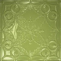 Tin Headboard Tile Finiish - Honey Dew