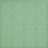 0608 Aluminum Ceiling Tile in Lemon Grass finish is available at www.decorativeceilingtiles.net