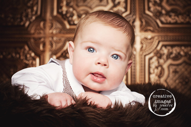 Beautiful image of a baby by Creative Images by Jennifer with our decorative ceiling tiles as backdrops.