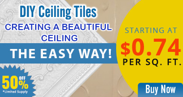 Creating a Beautiful Ceiling, the Easy Way! DIY Ceiling Tiles Starting at $0.74 per Sq. Ft. - 50% offer Limited Supply