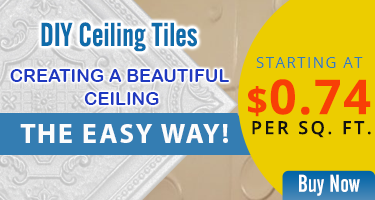 Creating a Beautiful Ceiling, the Easy Way! DIY Ceiling Tiles Starting at $0.74 per Sq. Ft.
