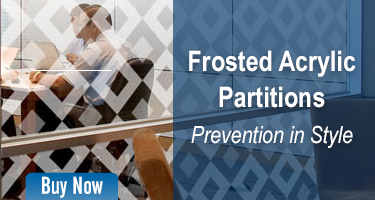 Frosted Acrylic Partitions - Prevention in Style