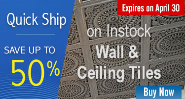 Quick-Ship Save Upto 50% - On In-Stock Wall and Ceiling Tiles