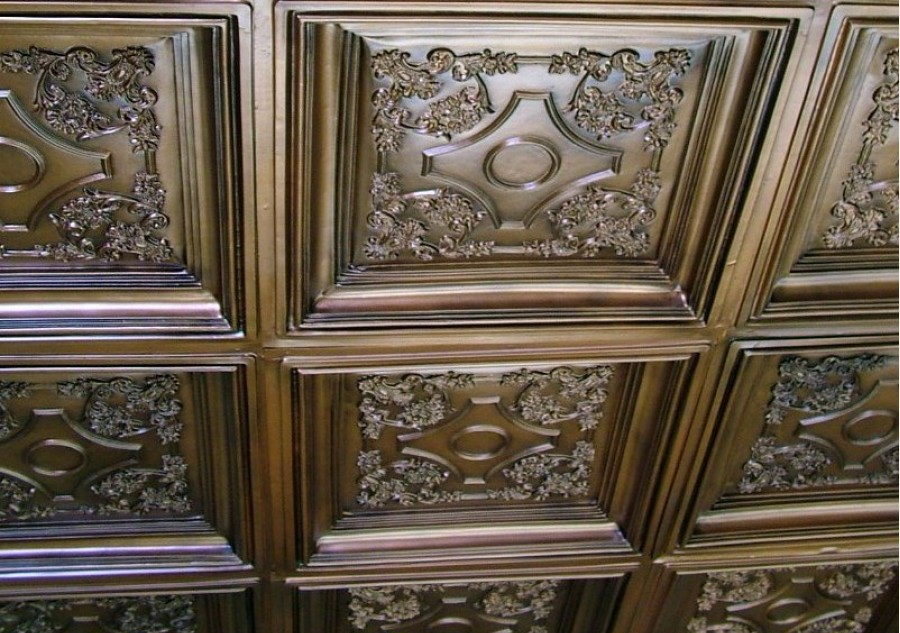 British Sterling Faux Tin Ceiling Tile Drop In 24 X24