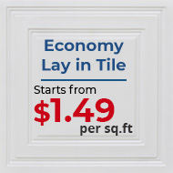 Economy Lay-in Tile / $1.49 Sq.Ft