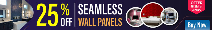 25% off on Seamless Wall Panels - offer till 25th of january