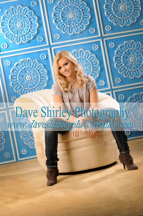 David Shirley of Alabama has taken this image of a senior with our decorative ceiling tiles as a backdrop.