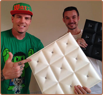 Milan Jara (co-founder) and Vanilla Ice at The Vanilla Ice Project